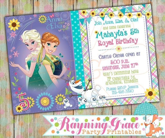 Frozen Fever Birthday Invitations Printable