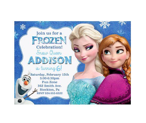 Frozen Party Invitation Editable