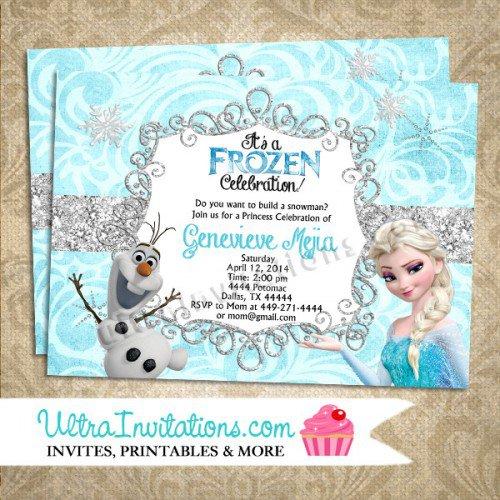 Frozen Printable Birthday Invitations Blank
