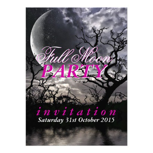 Full Moon Party Invitation Wording