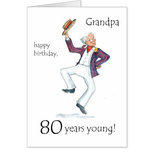 Funny 80th Birthday Invitations