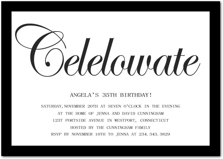 Funny Birthday Invitation Wording - Birthday invitation jingles