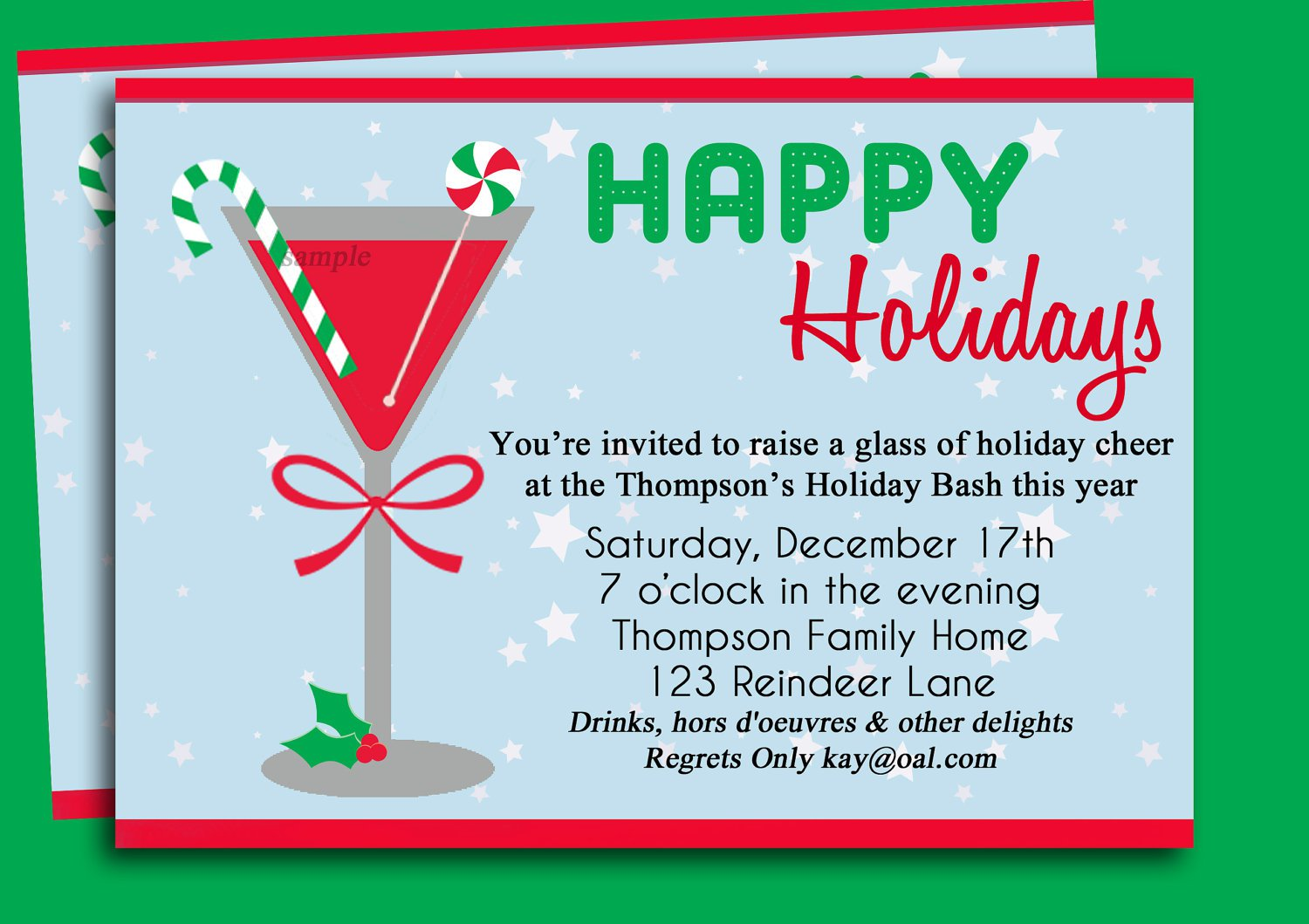 Christmas Party Invitations Wording Examples