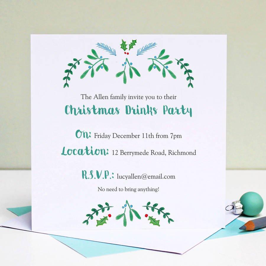 Funny Company Christmas Party Invitations