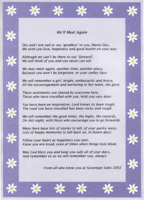Funny Farewell Poems Co-workers