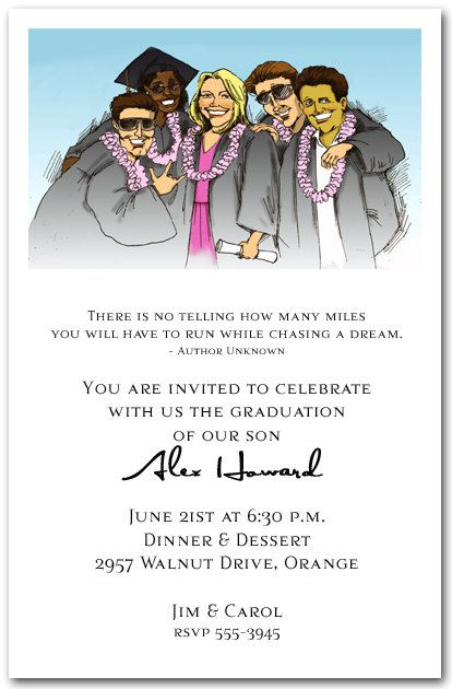 Funny High School Graduation Party Invitation Wording