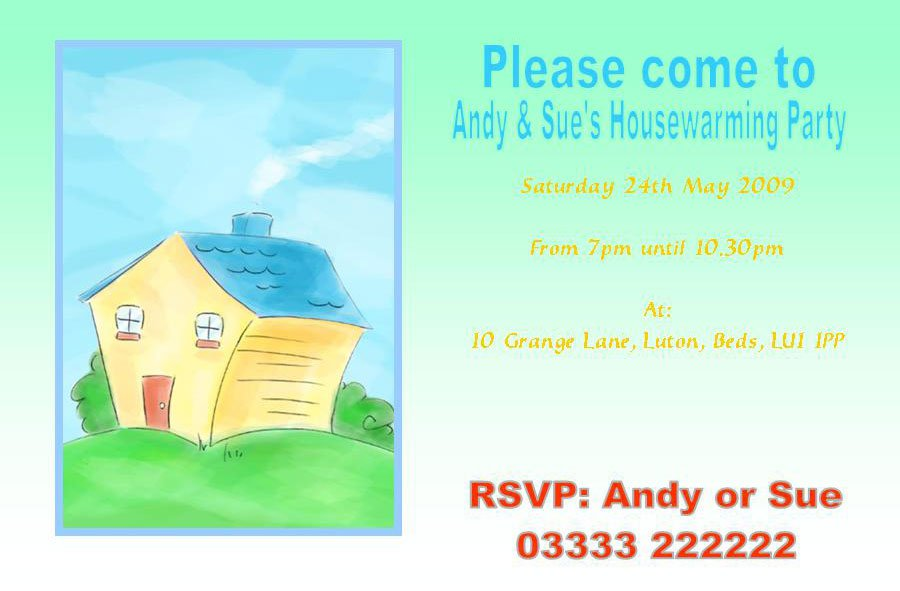 Funny House Warming Ceremony Invitation Wordings
