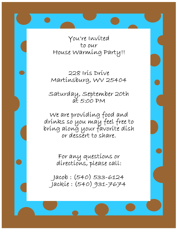 Funny House Warming Invitation Wording