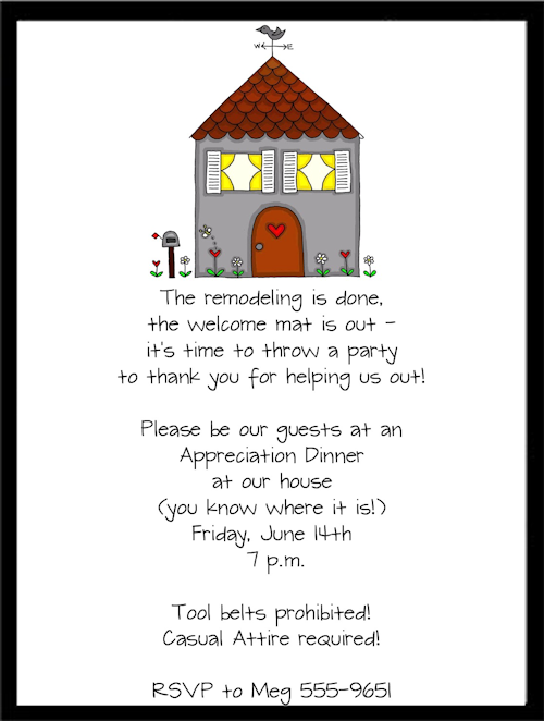 Funny Housewarming Invitation Wordings