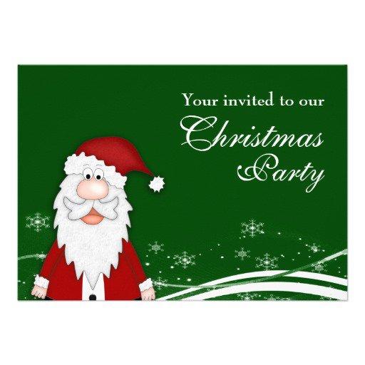 Funny Santa Christmas Party Invitations