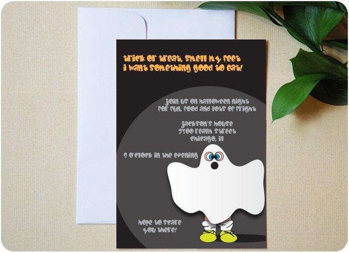Ghost Invitations Ideas