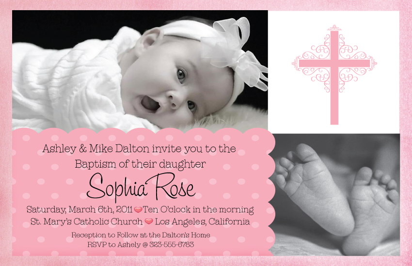 Girl Baptism Invitation Templates