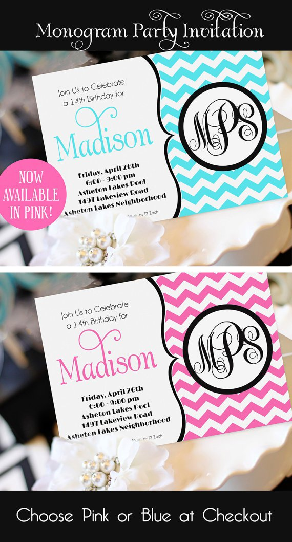 Girl Birthday Invitations Pinterest