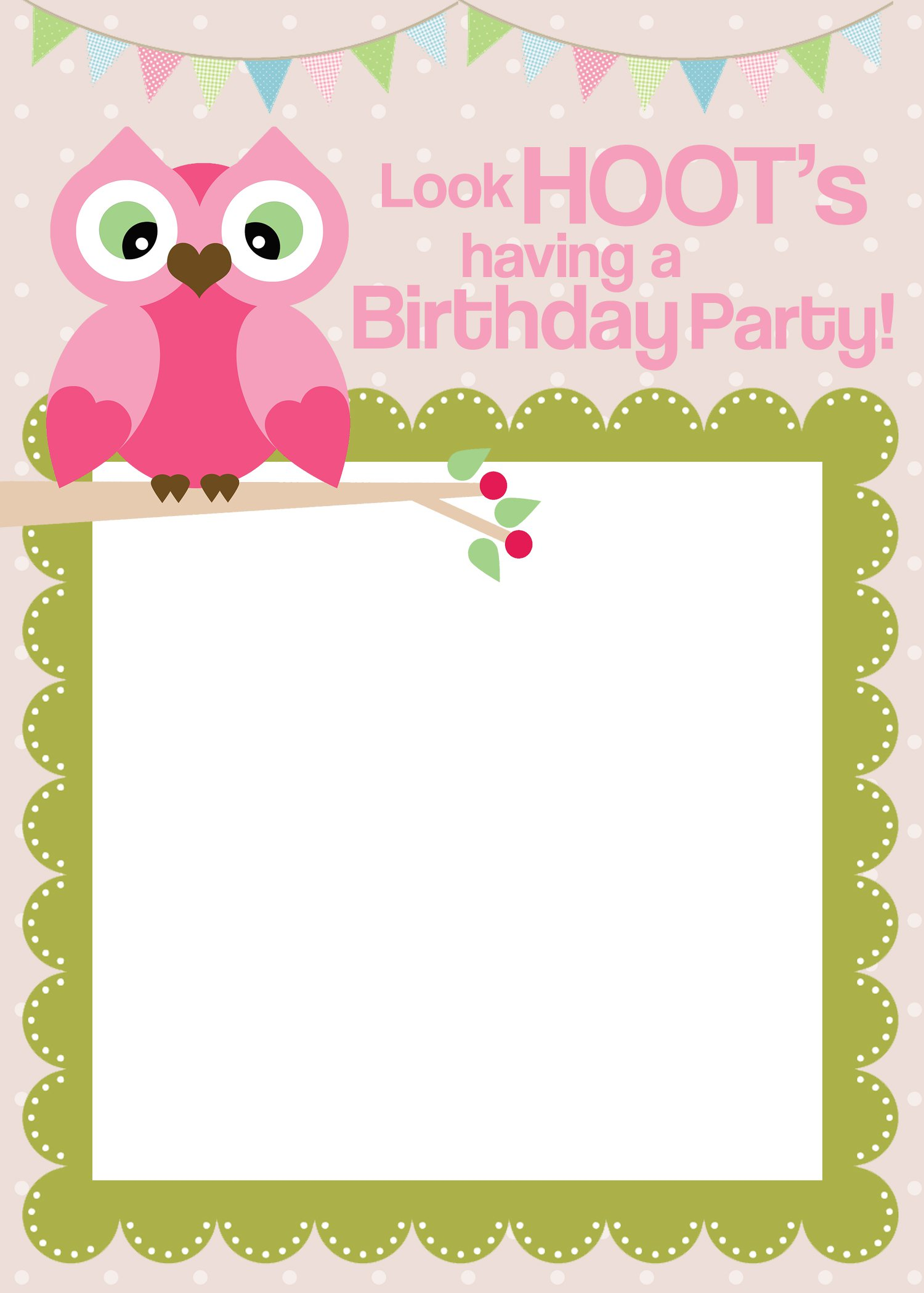 Girl Party Invitation Templates Free