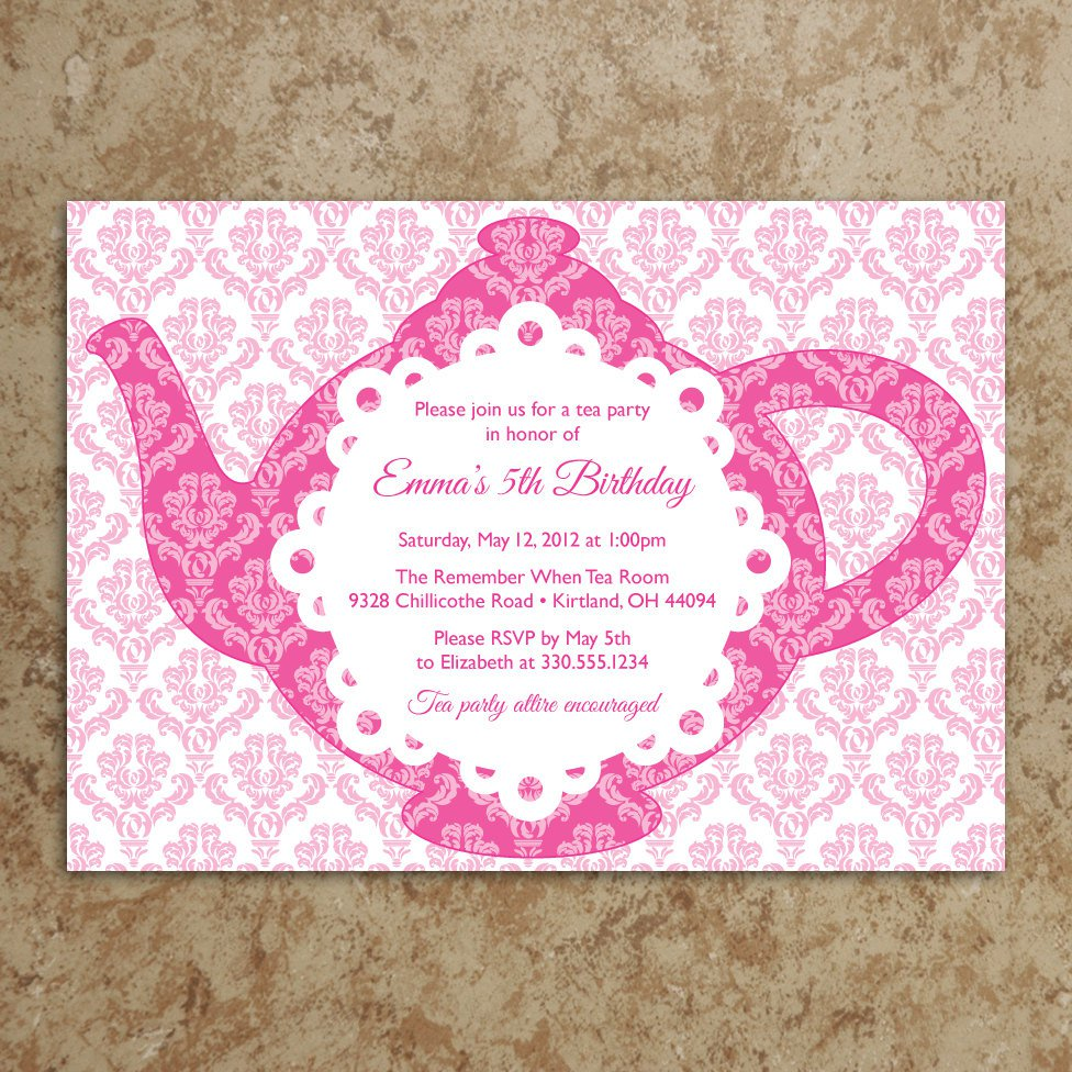 Ladies Tea Party Invitation Wording – Ladies Tea Party Invitations