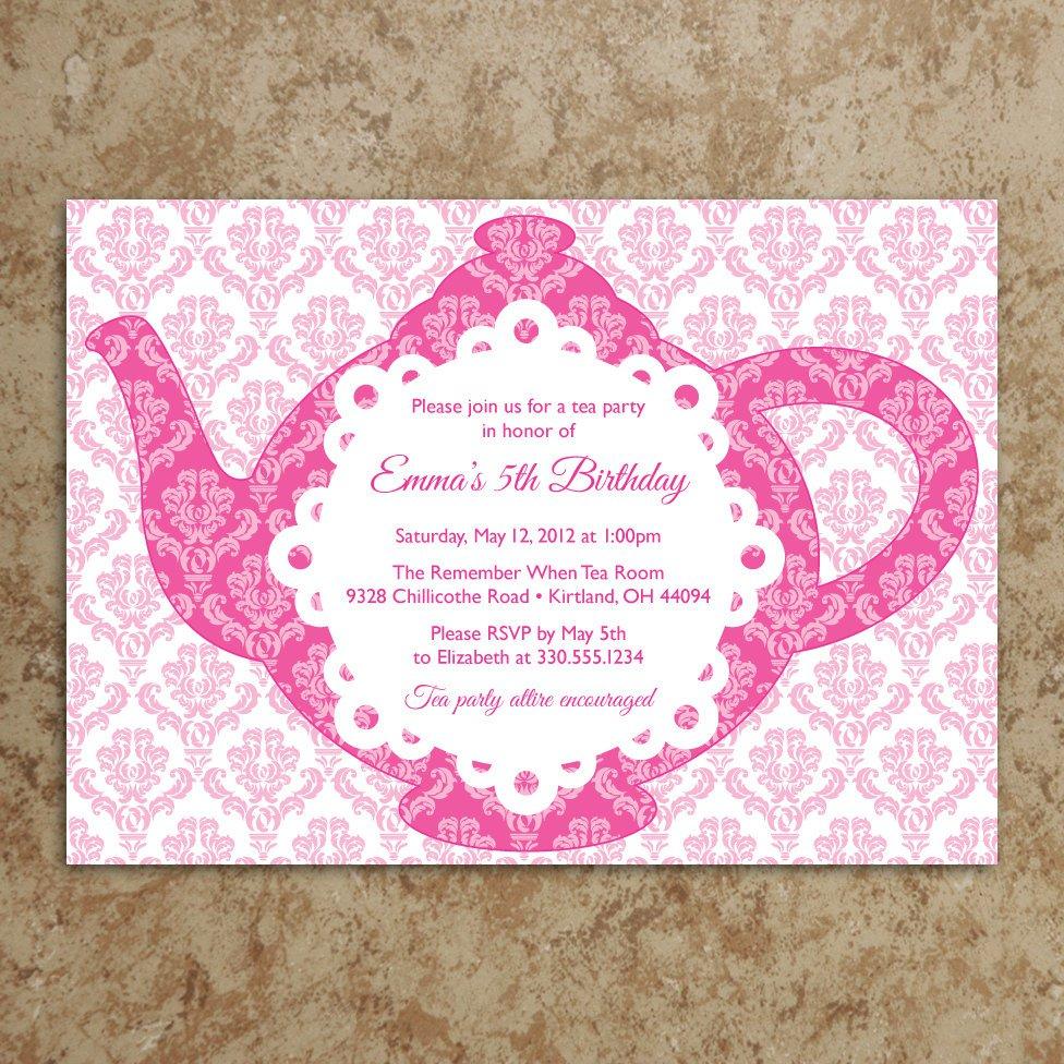 Girl Tea Party Invitation Wordings