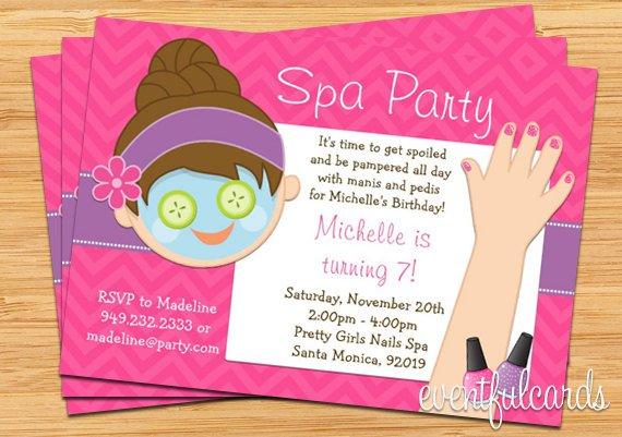 Girls Spa Party Invitation Ideas