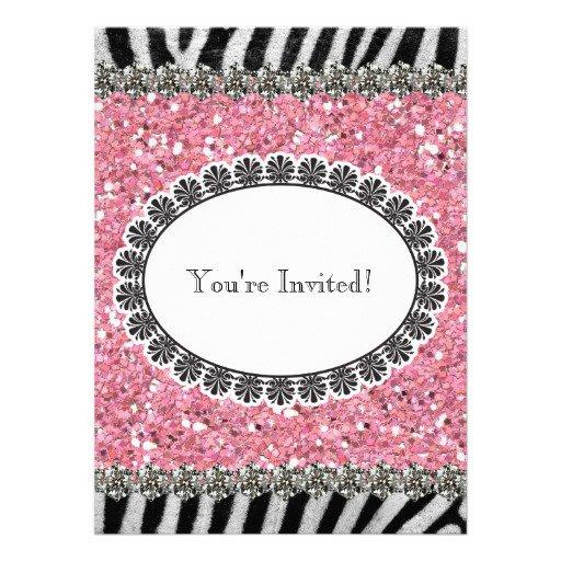 Glitter Birthday Invitations Uk