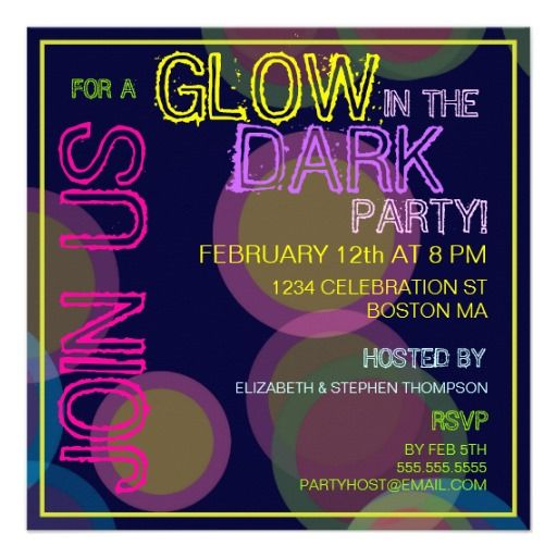 Glow In The Dark Party Invitations Online