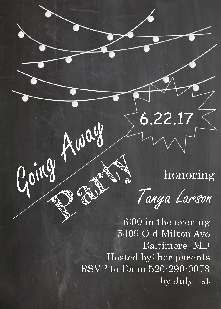 Going Away Party Invitation Templates Free
