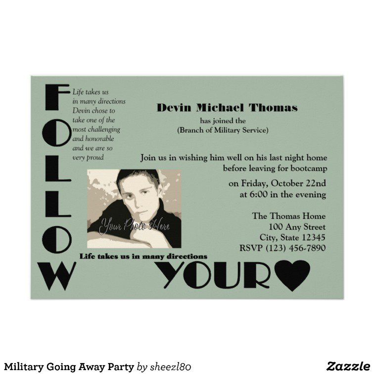 Going Away Party Invitation Wording For A Man