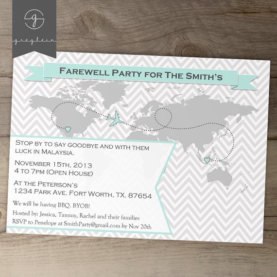 Going Away Party Wording For Invitations
