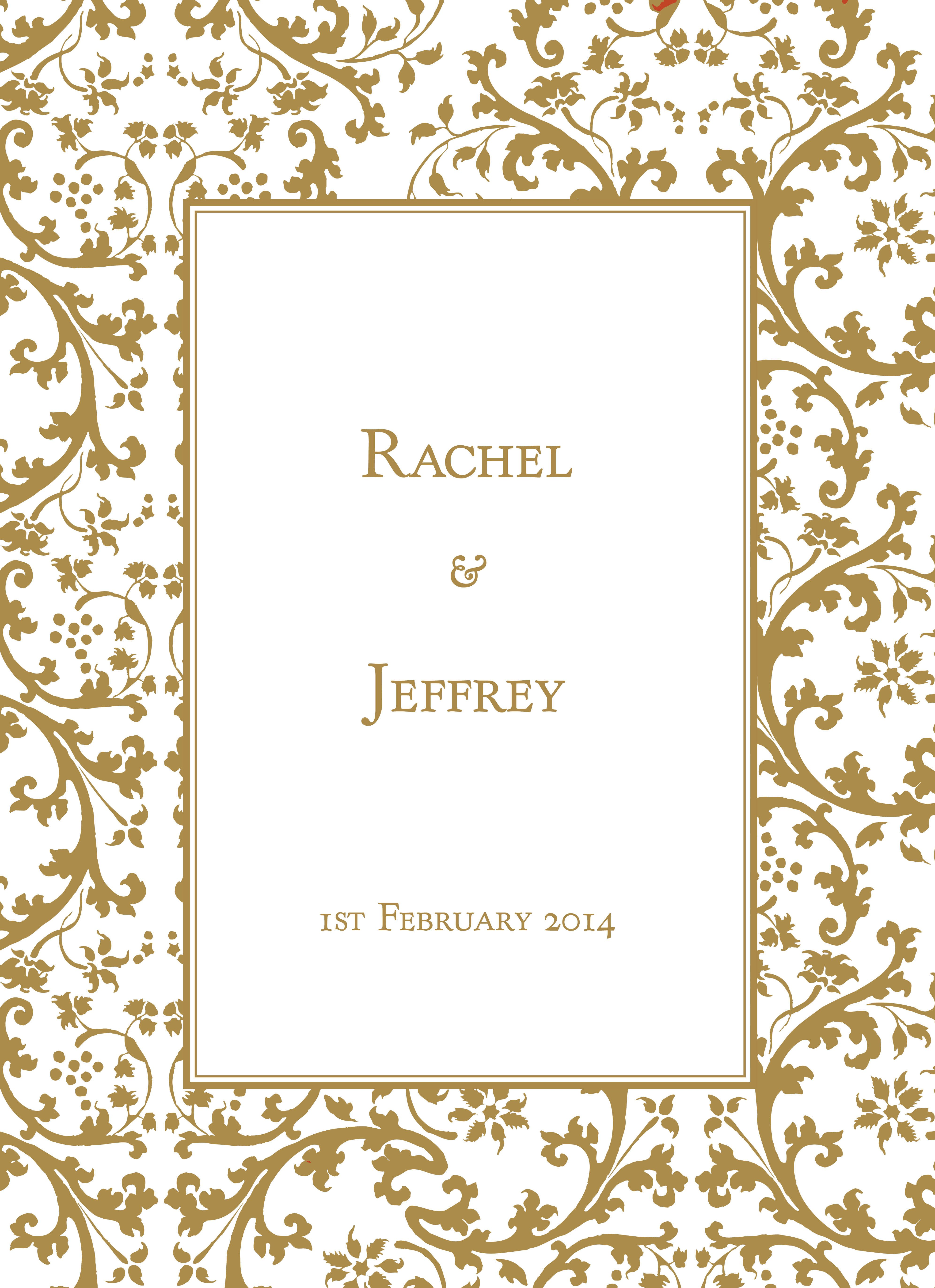 Gold Border Wedding Invitations