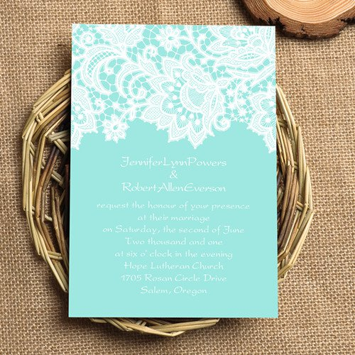 Gold Lace Wedding Invitations