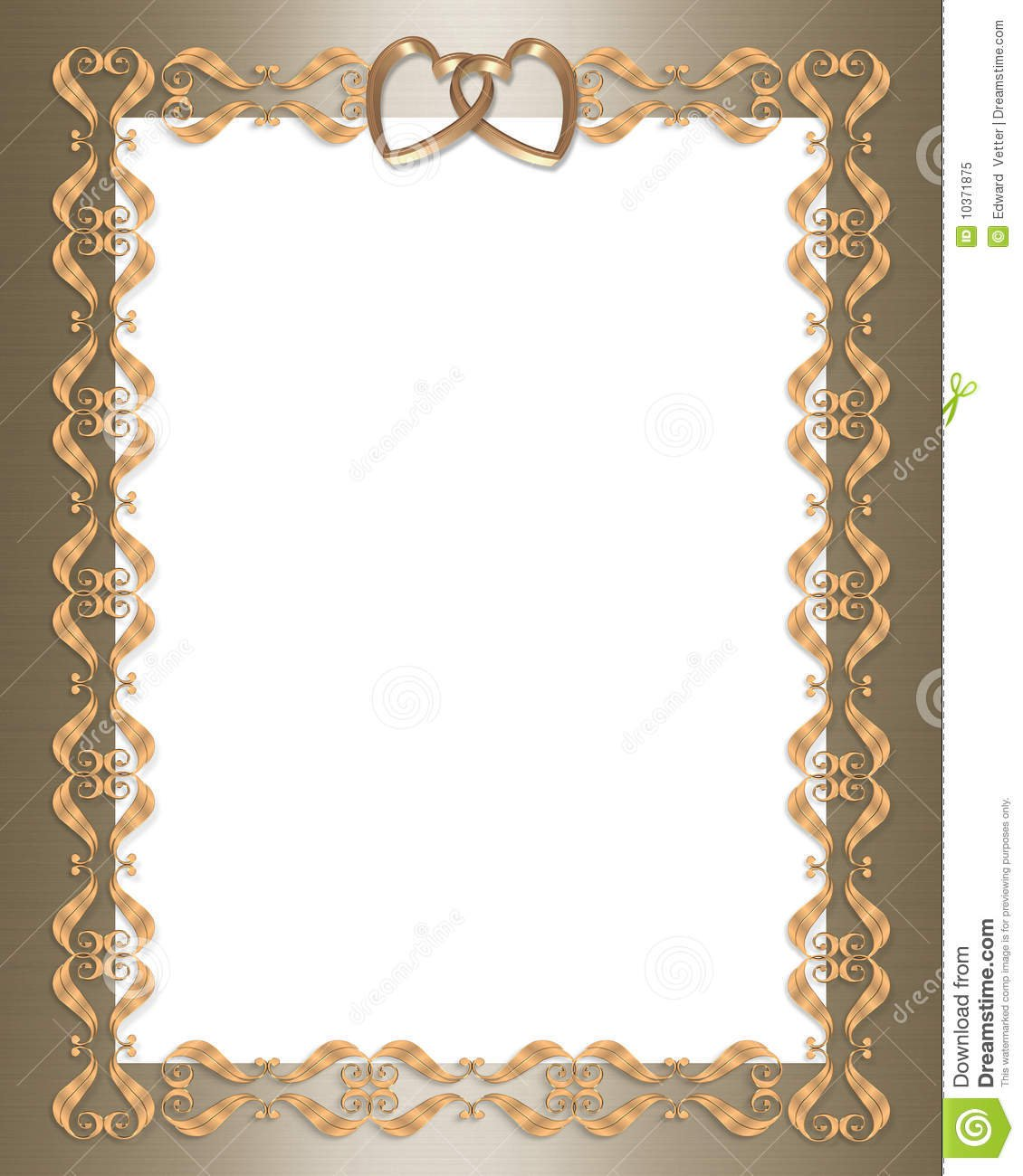 gold wedding borders for invitations