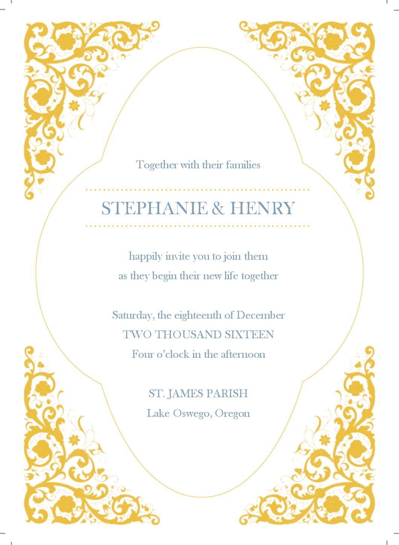 Gold Wedding Invitation Templates