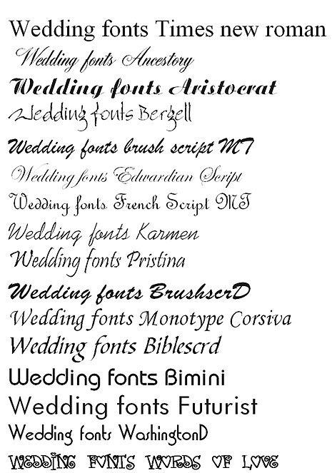 Good Fonts For Invitations