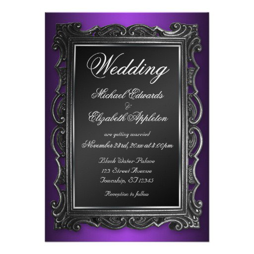 Gothic Style Wedding Invitations