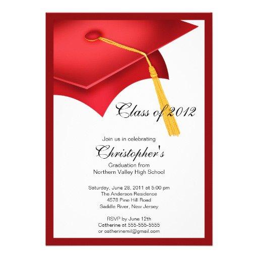 Graduate School Graduation Party Invitations