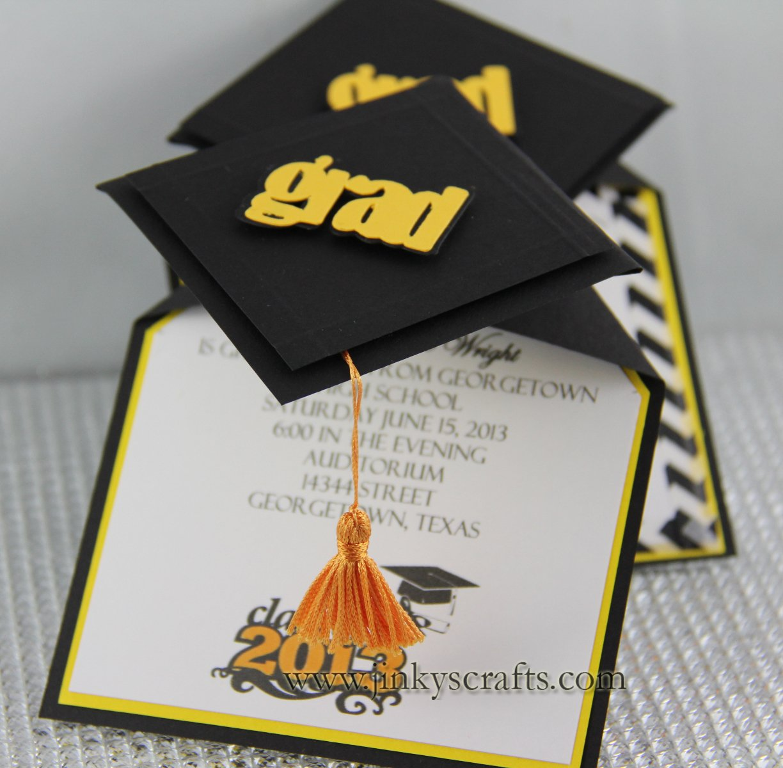 Graduation Cap Invitations