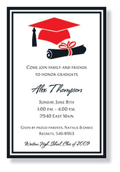 Graduation Cap Invitations Printable