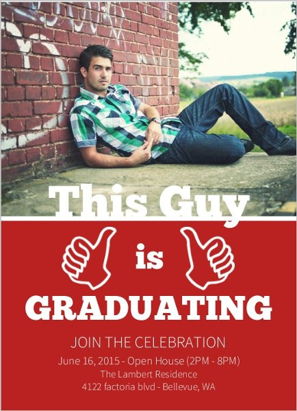 Graduation Invitation Ideas For Guys