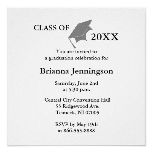 Graduation Invitation Print Your Own