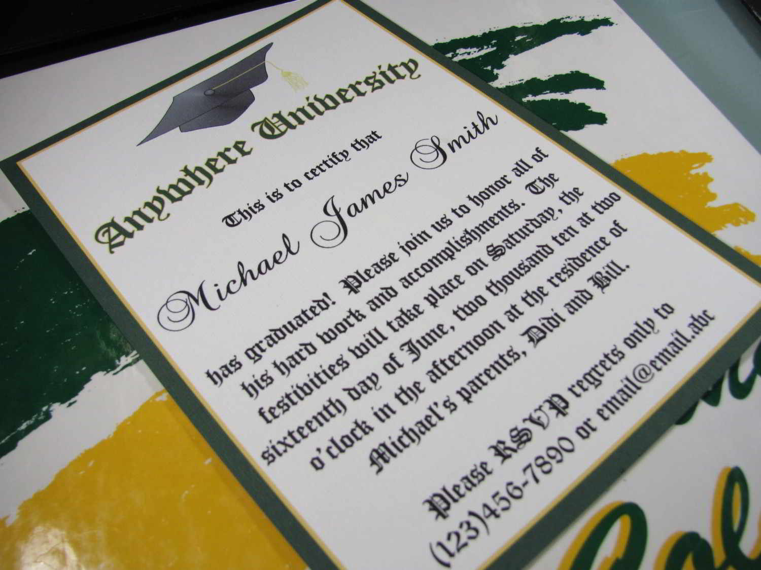 Graduation Invitation Wording College