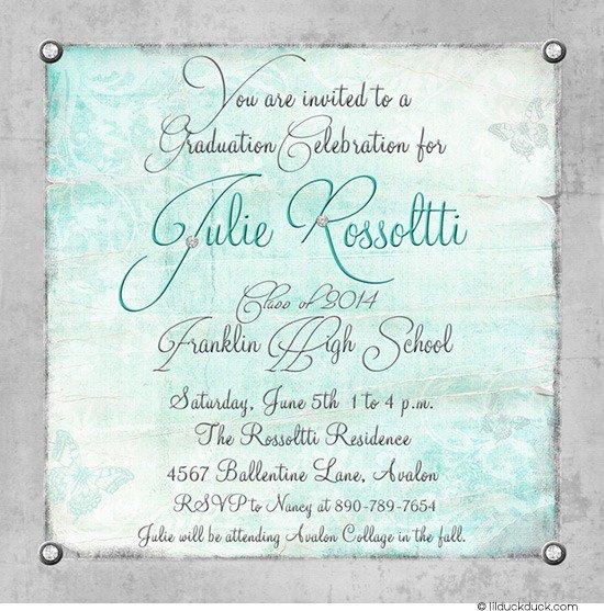 Graduation Invitation Wording Ideas