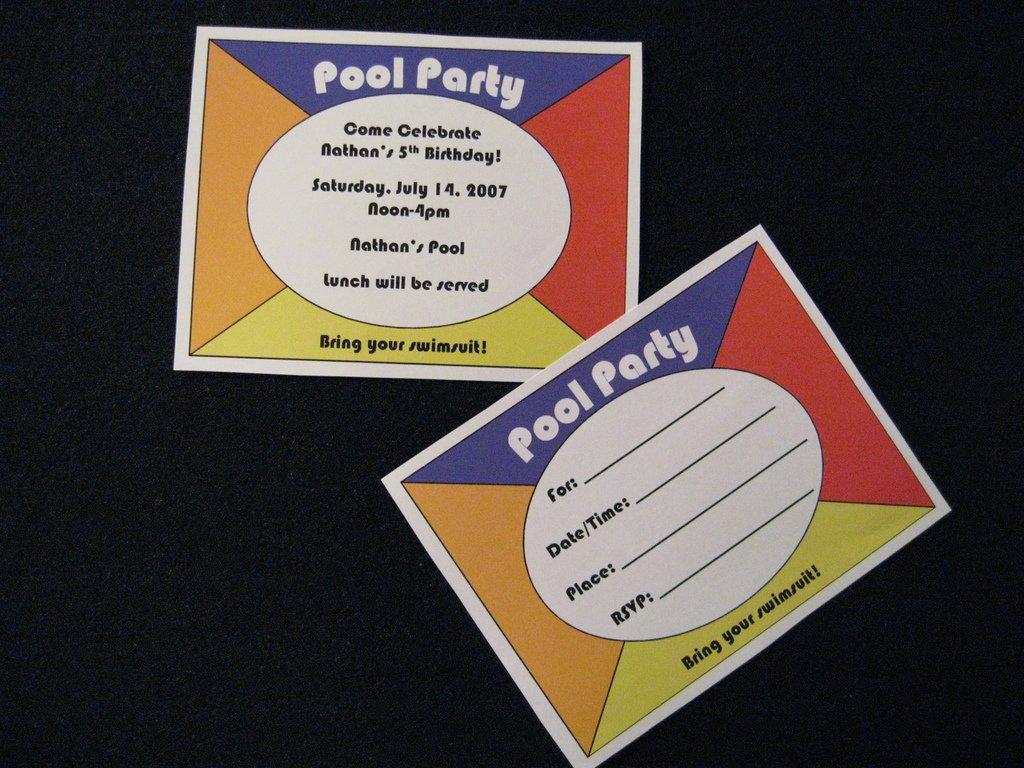 Graduation Pool Party Invitation Ideas