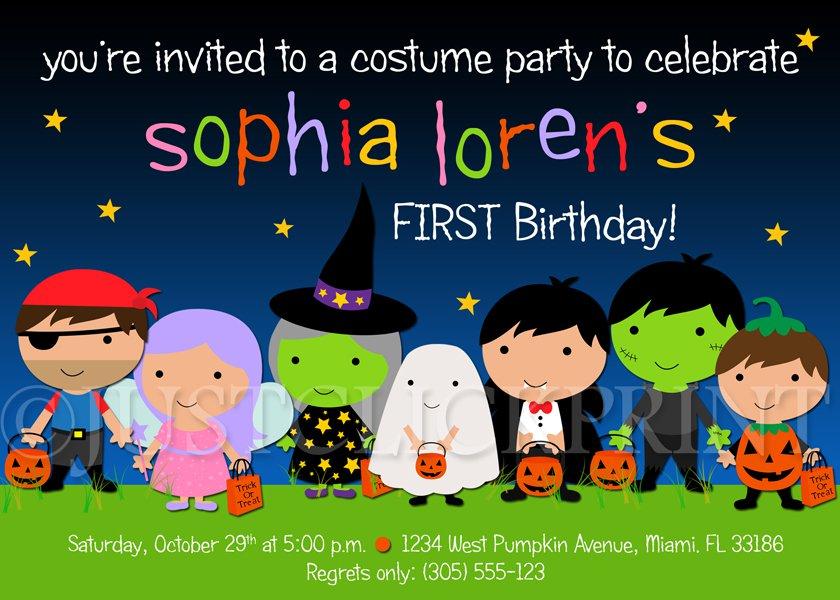 Halloween Birthday Party Printable Invitations