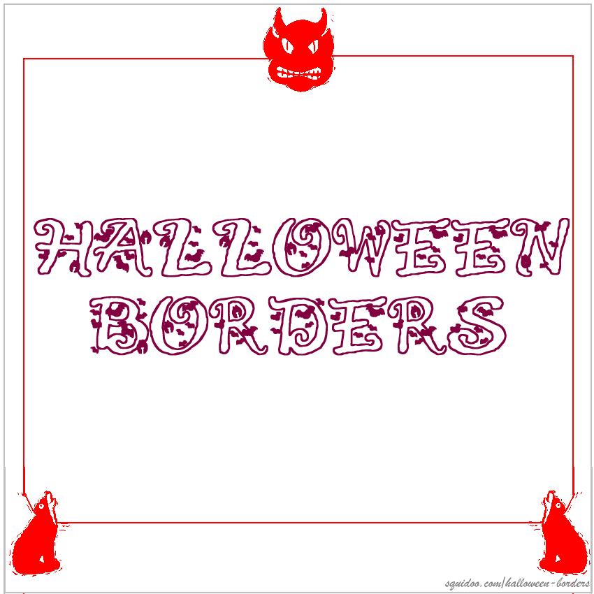 Halloween Borders For Invitations