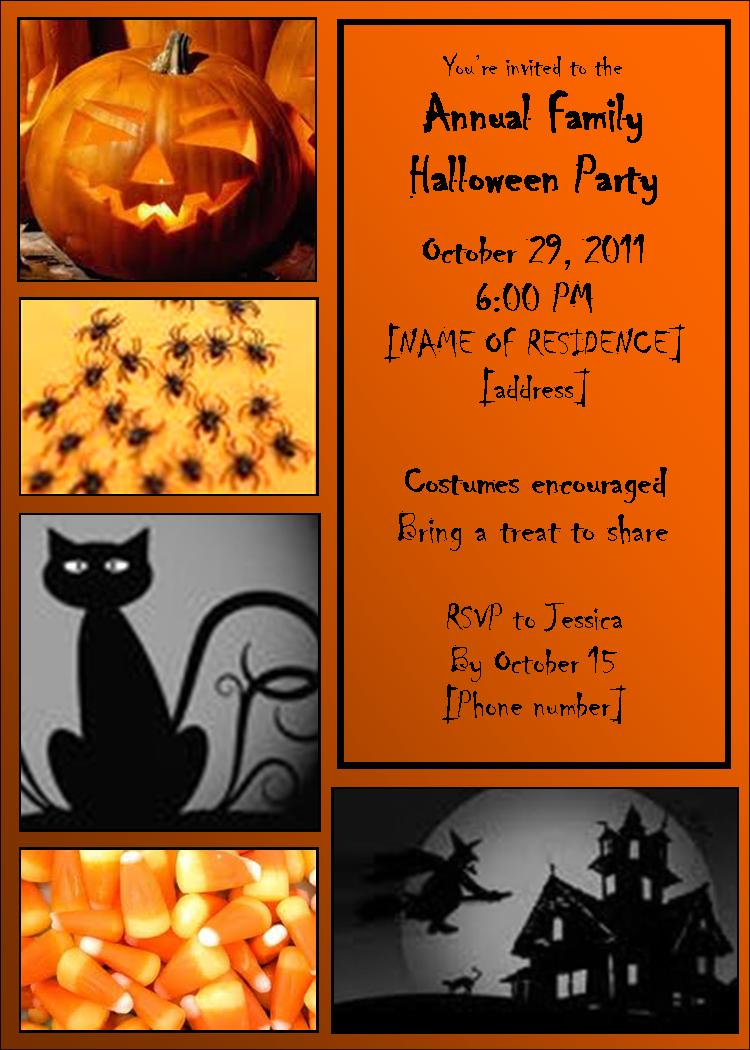 Halloween Invitation Templates Free