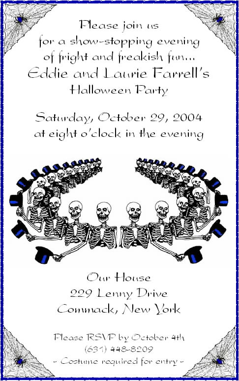 Halloween Invitation Wording Ideas Adults