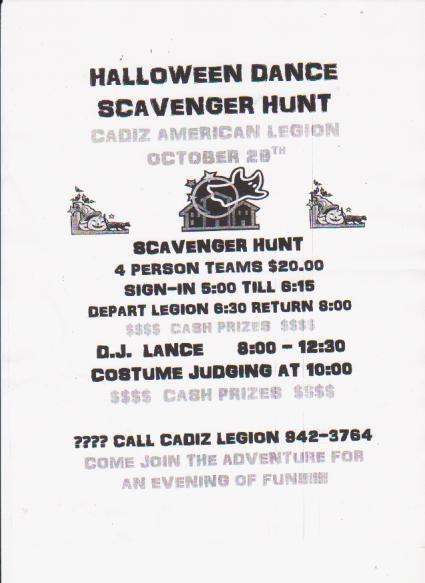 Halloween Scavenger Hunt Invitation