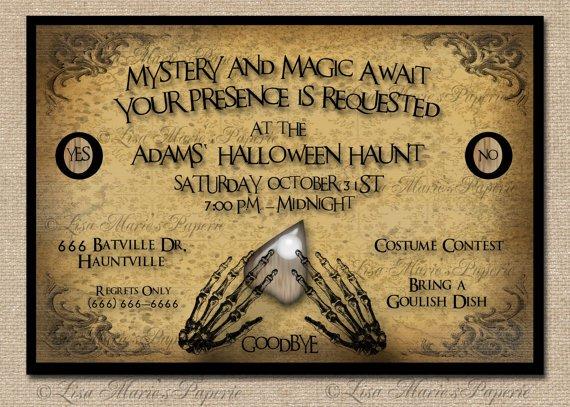 Haloween Party Invitations Birthday Free Printable