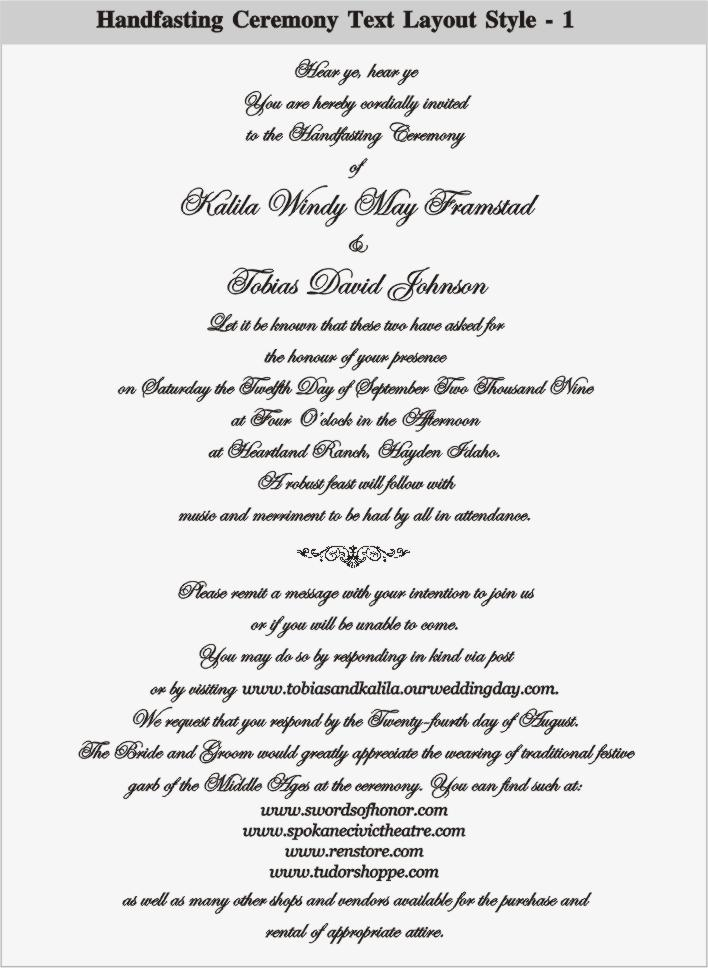 Handfasting Invitations Templates