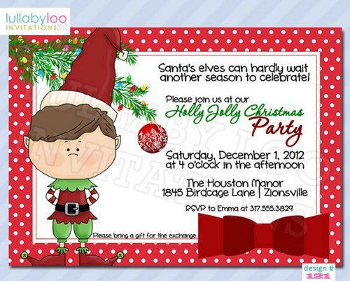 Handmade Christmas Party Invitations