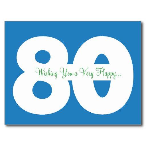Happy 80th Birthday Invitations