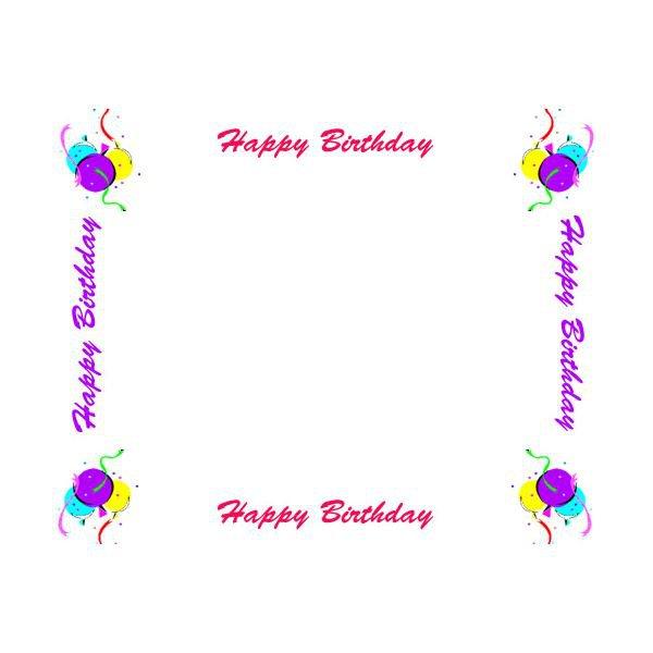 Happy Birthday Invitation Border